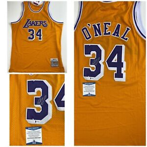Details about SHAQUILLE O'NEAL signed JERSEY Los Angeles Lakers SHAQ Beckett Authentication