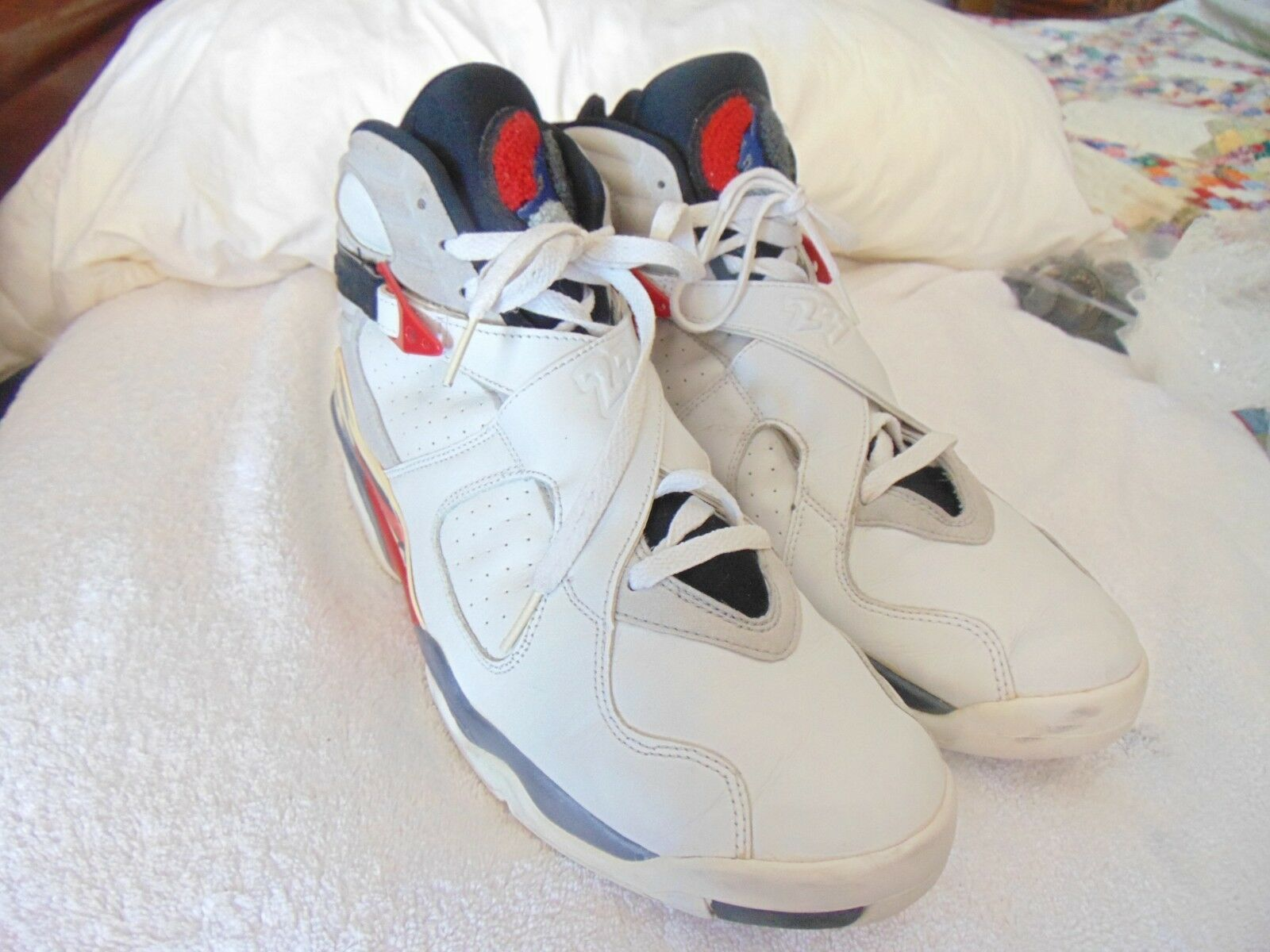 Nike Air Jordan VIII 8 Retro Hare Bugs Bunny 2018 Aqua Chrome VII Pre Owned 13 T The most popular shoes for men and women