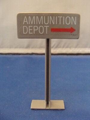 1984 GI Joe ARAH Cobra Missile Defense Unit Ammunition Depot Sign Part