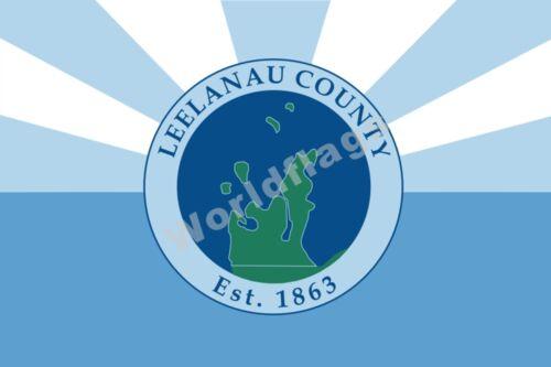 USA State Michigan Drapeau 3X5FT Detroit City Leelanau County Gouverneur Bannière