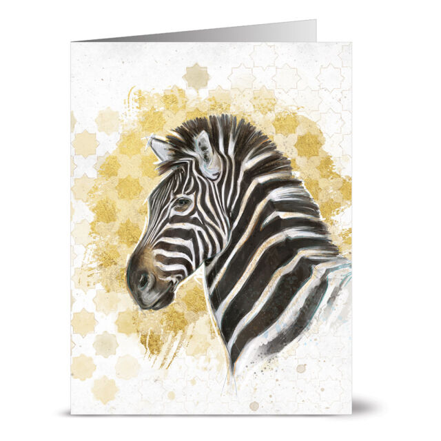 Elephant on Solid Gold 24 Note Cards Gray Envs