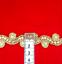 Lote De Trabajo indio étnico de Oro Recortar Cinta de Costura oficio Pastel Decoración frontera 1 metros