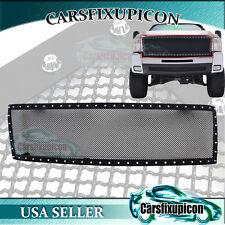 07-10 Chevy Silverado 2500/3500HD Rivet Black SS Wire Mesh Grille Grill Insert