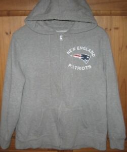 4c40765d6405 NFL Women s Hoodie Jacket Full Zip New England Patriots Back Side ...