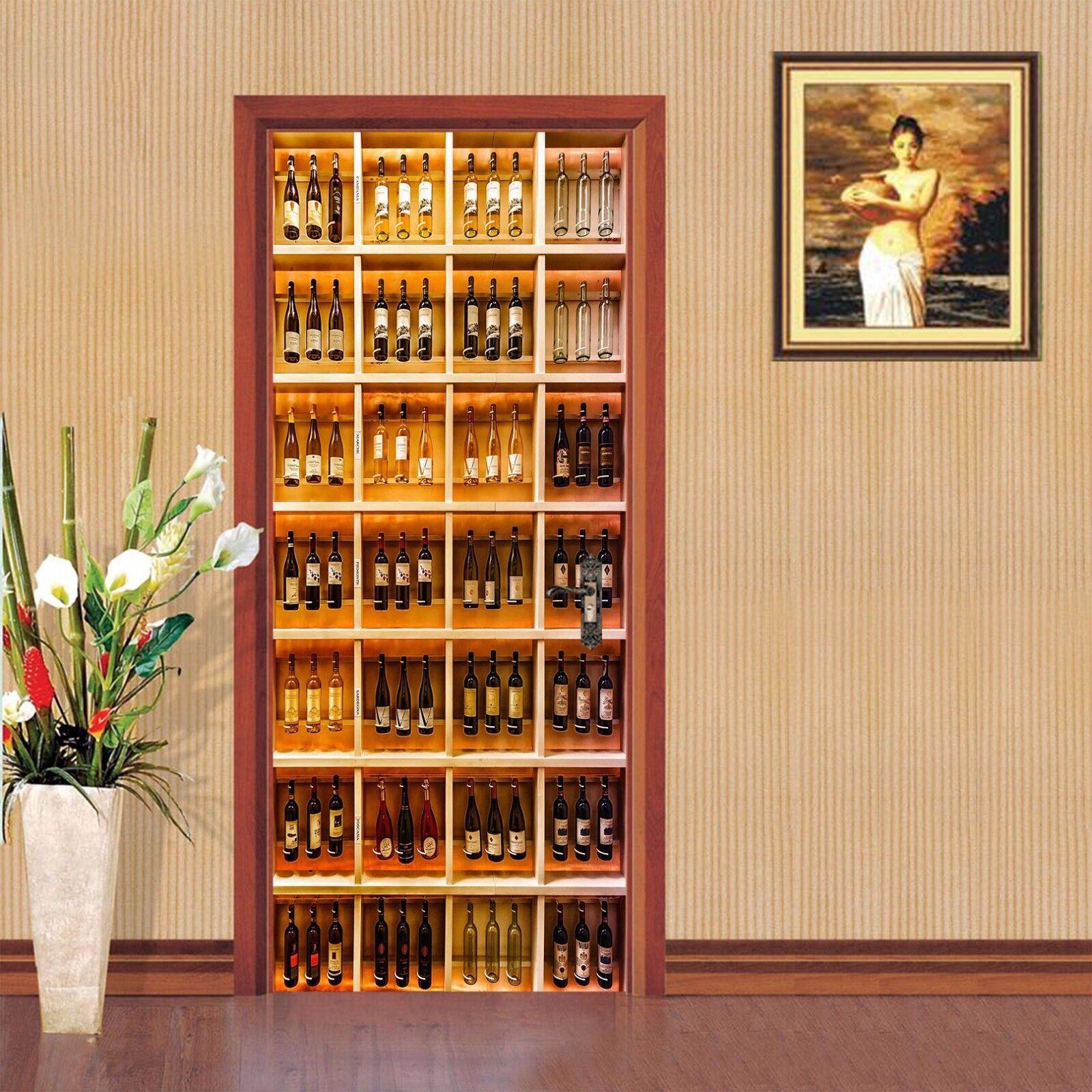 3D Weinschrank Tür Wandmalerei Wandaufkleber Aufkleber AJ WALLPAPER DE Kyra