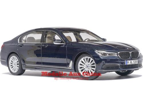 Imperial Blue M. 1:18 Paragon 2016 BMW 750Li Imperialblau M. Händler Auflage