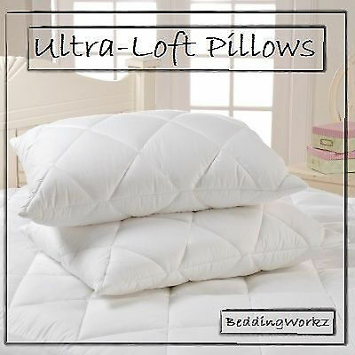 Ultra-Loft Super Jumbo Bounce Back Pillows - 2 Pack