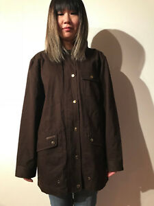 Ralph jakke Størrelse vokset tørre varer Lauren bomuld Kvinder Medium jakke Awesome SXqr4Sx