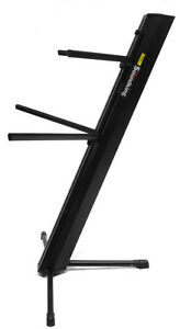 Keyboard-Piano-Synth-Portable-Folding-Two-Double-Dual-Tier-Adjustable-Stand