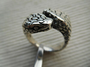 f77ce52576f BELLE BAGUE CHEVALIERE ARGENT MASSIF 12GRS SERPENT SNAKE REPTILE ...
