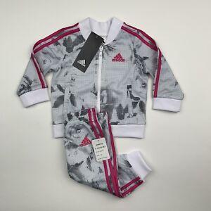 Image is loading BABY-GIRLS-Adidas-Floral-Jacket-amp-Pants-Set- 5ad011eba