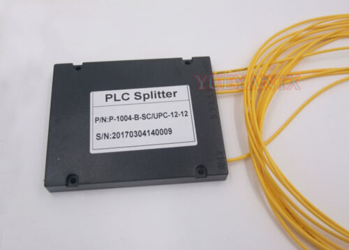SC UPC 1X4 PLC Singlemode Fiber Optical Splitter FTTH PLC Steel Tube Type FBT