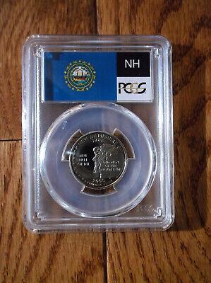 2000-S Flag Clad New Hampshire State Quarter NH PR70DCAM PCGS Proof 70 Deep Cam