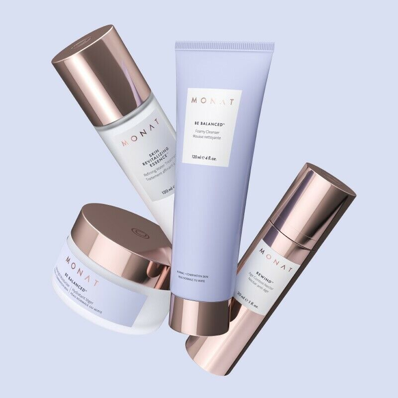 MONAT BE BALANCED Skin Care Routine(4 Pieces) For Normal Skin New and Sealed 2