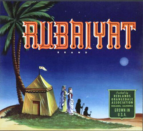 *Original* RUBAIYAT Arabian Night Desert Moon Redlands Orange Label NOT A COPY!