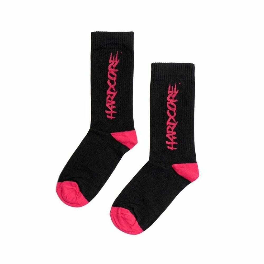 MTN Hardcore Regular Socks - Graffiti Design - 80% Cotton - Black - M-L