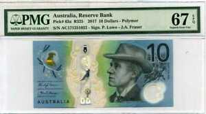 AUSTRALIA 10 DOLLARS 2017 P 63 NEW POLYMER SUPERB GEM UNC PMG 67 EPQ
