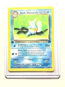 Wartortle-Oscuro-46-82-1st-edicion-Team-Rocket-poco-frecuentes-Pokemon-casi-Nuevo