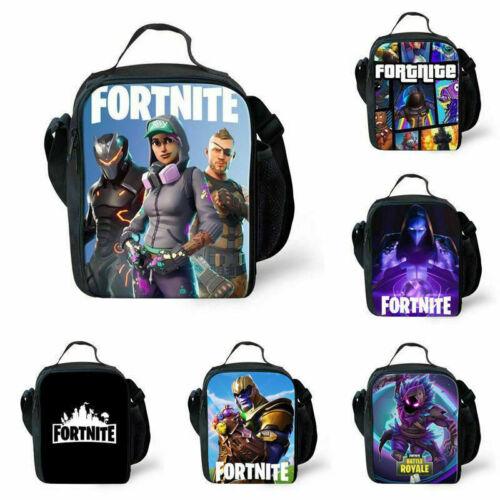 HOT Fortnite Battle Royale Insulated Lunch Box Girls Boys School Bag Snack Bag