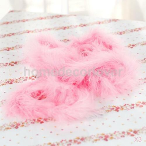 3pcs 6 Feets Length Pink Marabou Feather Boa Wedding Party Costume Ball Decor