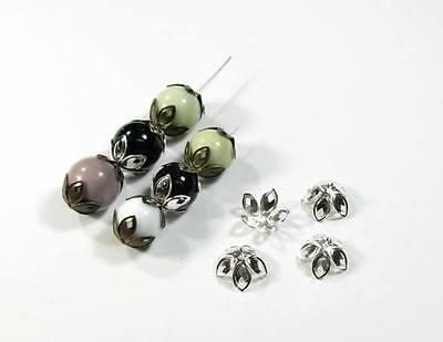 Metall filigrane Perlenkappen Kappen Hüttchen Perlkappen zur Auswahl