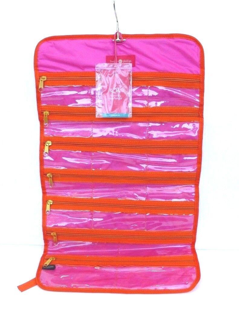 NEW Lindsay Phillips Gulfport snap storage with zipper vinyl bag organizer