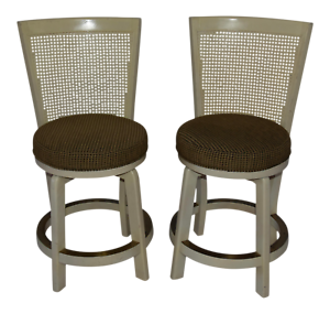 Groovy Details About 1960S Vintage Hollywood Regency Cane High Back Round Swivel Seat Chairs A Pair Short Links Chair Design For Home Short Linksinfo