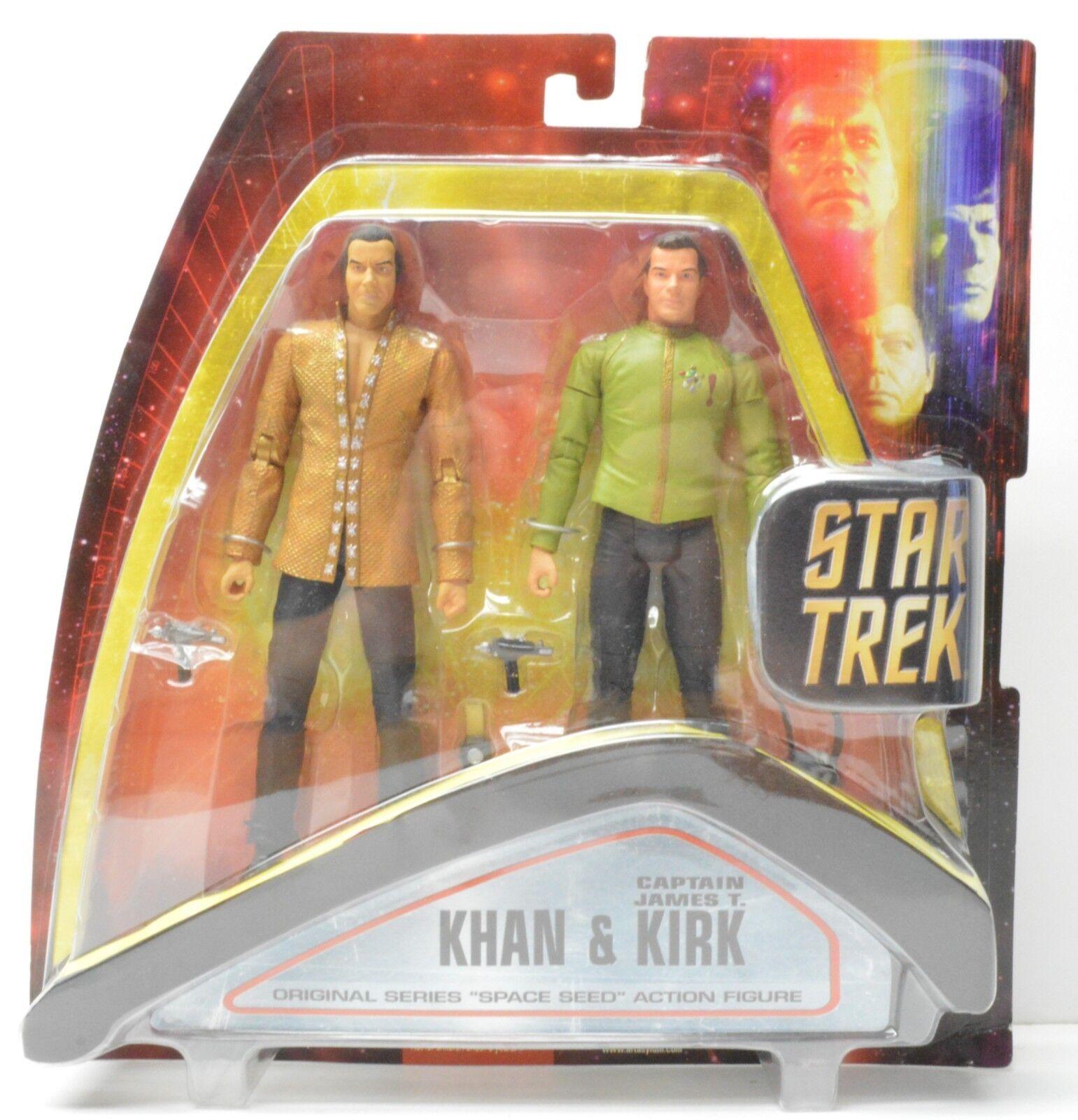 Stern Trek TOS Kirk Khan Space Seed 2 Verpackung Wirkung Figure Art Asylum NIP