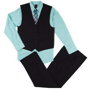 5b982e4a4203 Dockers Infant Boys 4-Piece Mint Black Dress Up Outfit Shirt