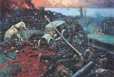 Dante und Vergil im Schützengraben Tod Inferno Höllenkreis Feuer Wilderer A3 743