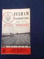 1960's  Fulham Football Programmes - Various Fixtures