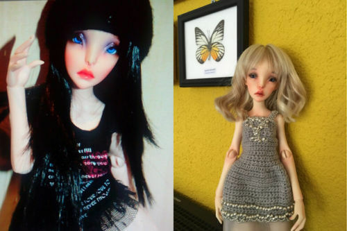 1//4 bjd doll sd doll cute girl ball jointed dolls Free eyes Face Up resin gift