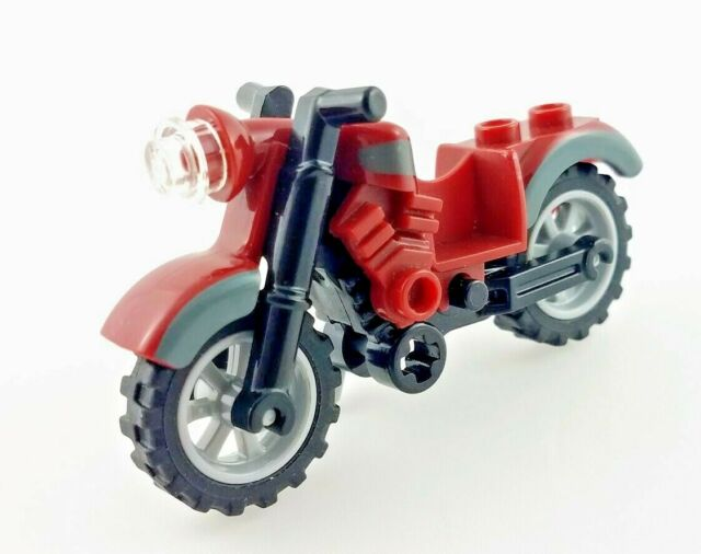 Lego Motorcycle Vintage with Dark Bluish Gray Trim Motorbike Bike