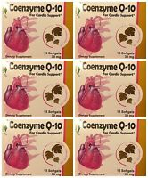 Lot Of 6 Herbal Inspiration Coenzyme Q10 (q-10) Cardio Support, 30 Mg, 90 Count