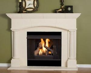 Fireplace Mantel (mantle) Surround Pre Cast Stone non-combustible Mantel | Home & Garden