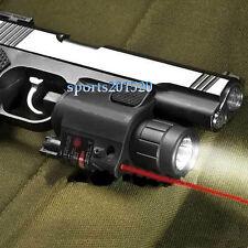 Power Flashlight&Red Dot Laser/Sight Combo Weaver Mount fit 4 Pistol/Gun W12