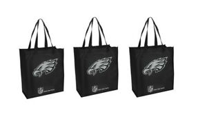 08ca8eef9b Image is loading 3-Philadelphia-Eagles-Reusable-Shopping-Grocery-Tote-Gift-