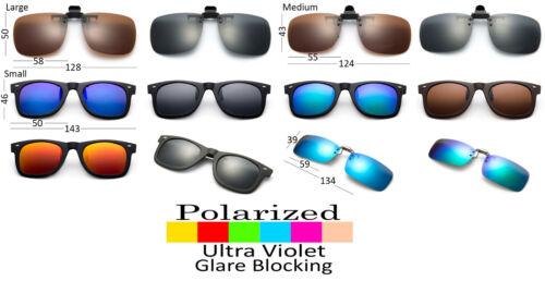 Pince Sur Lunettes de Soleil Polarisé Reflets Blocage Lentille Clapet Dessus UV