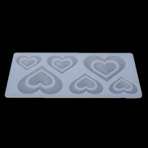 Heart Love Rose Flower 3D Silicone Soap Mold Food Grade Fondant Molds Cake Q