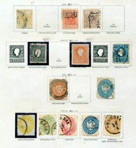 AUSTRIA-1850-64-Imperf-Perf-M-amp-U-13-Items-ZZ39