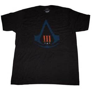 Assassin-039-s-Creed-3-Distressed-Logo-T-Shirt-M-NEW