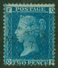 SG 45 2d blue plate 8. Very fine used with crisp Malta CDS