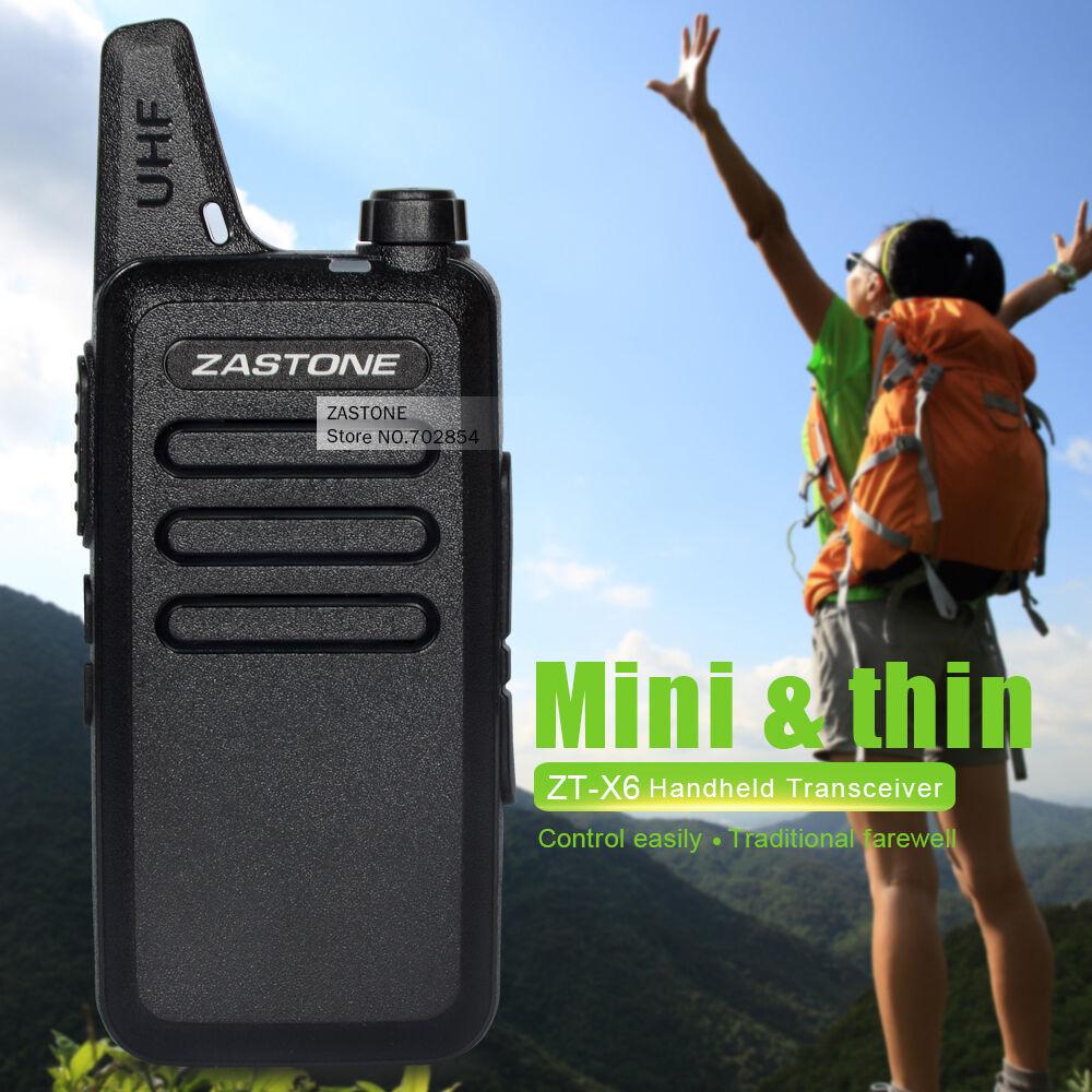 Zastone ZT-X6 UHF 400-470 MHz 16 channels Walkie Talkie Mini portable Radio USA