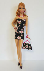 Fits Model Muse Barbie Clothes Dress, Purse and Jewelry Set Fashion NO DOLL d4e