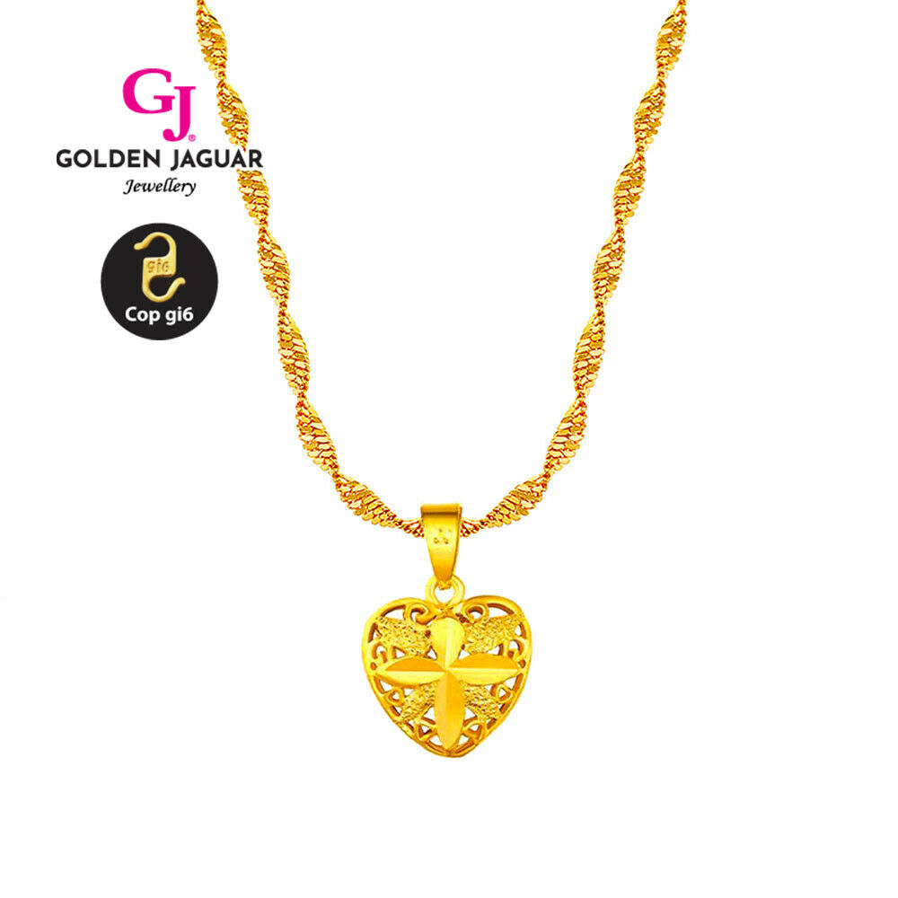[GJ] Necklace 24k Gold Plated wholesales Jewerly Flower Long Necklace