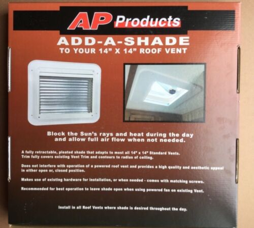 AP Products 14x14 White RV Vent Shade 015-201612