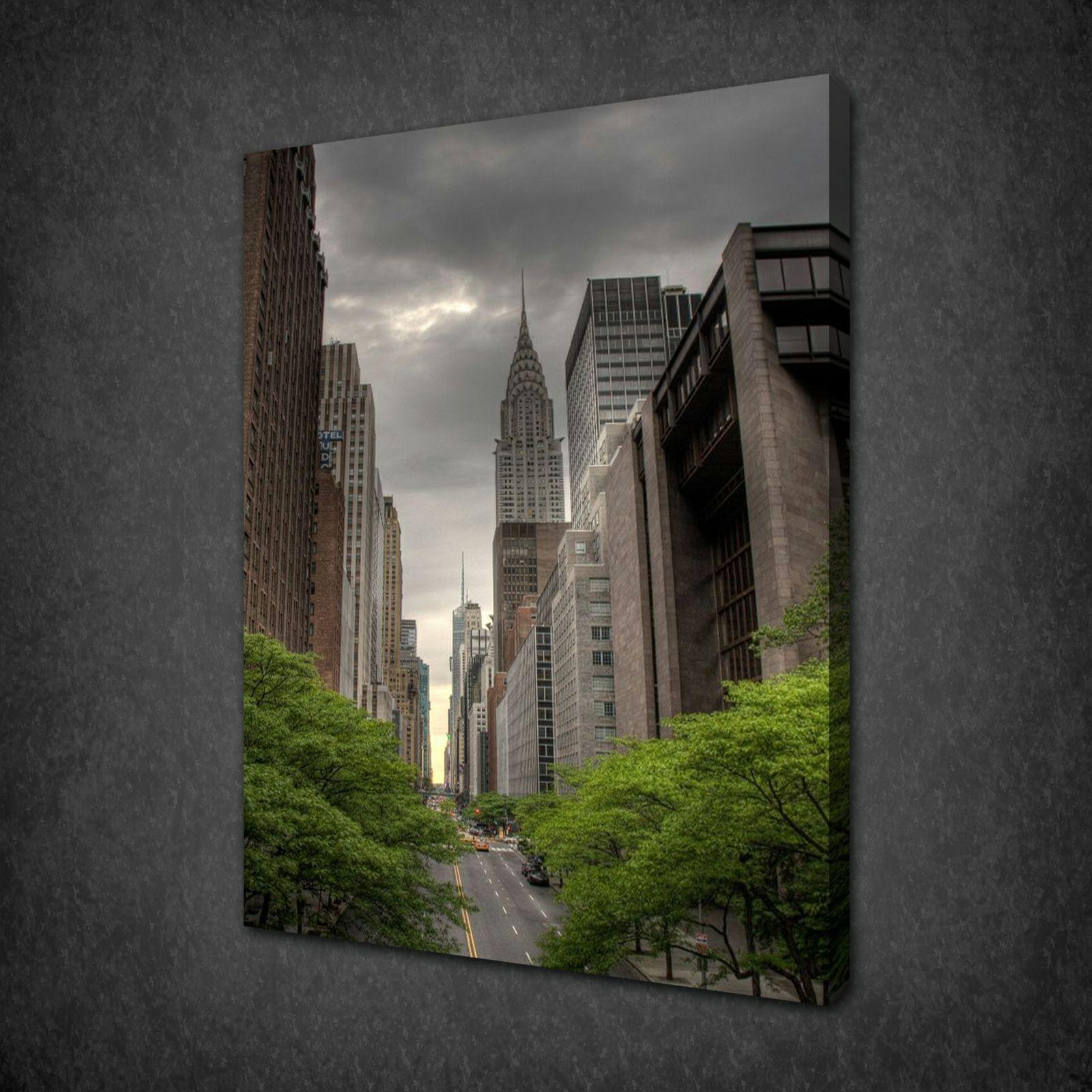 42ND STREET New York Tela Stampa Foto Wall Art Free Fast UK Consegna