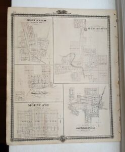 Antique Map Plan Of Monticello Manchester Iowa Andreas Atlas Co