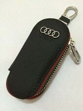 Audi Leather Key Cover Case Holder Ring Chain Fob Long!
