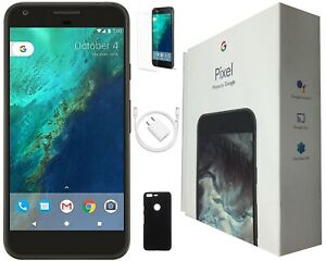 Google Pixel 5-inch, 32GB, Quite Black, Factory Unlocked, and Includes Bundle